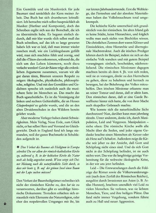 Hageneder-Interviewseite Scan 1 von 7Hageneder-Interviewseite Scan 2 von 7