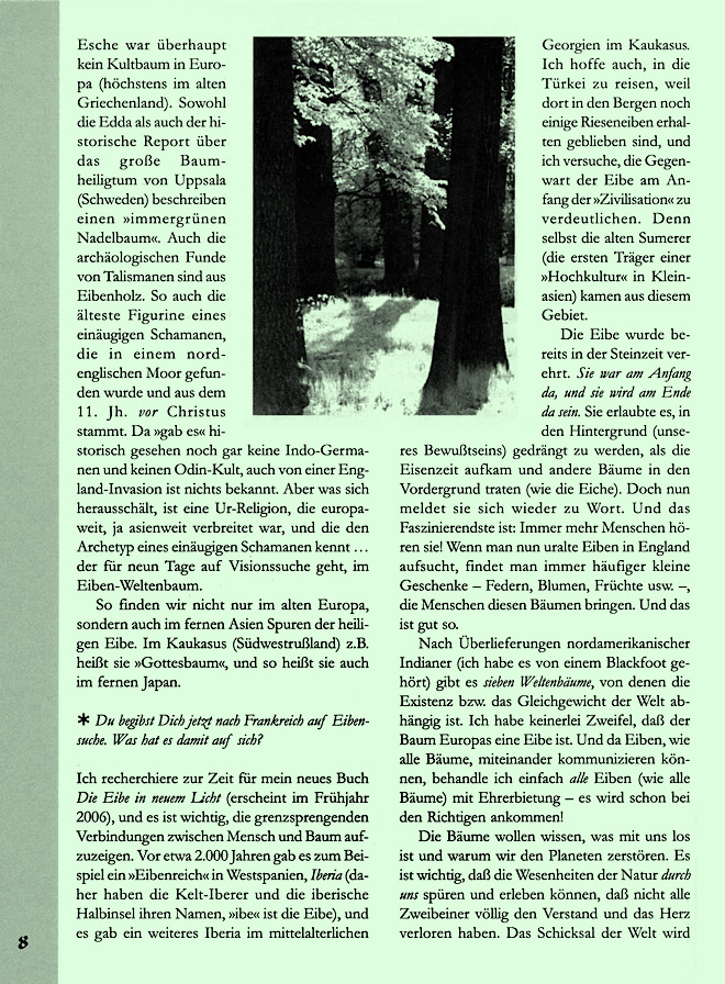 Hageneder-Interviewseite Scan 4 von 7