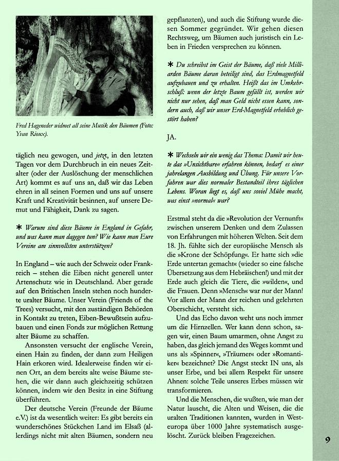 Hageneder-Interviewseite Scan 5 von 7