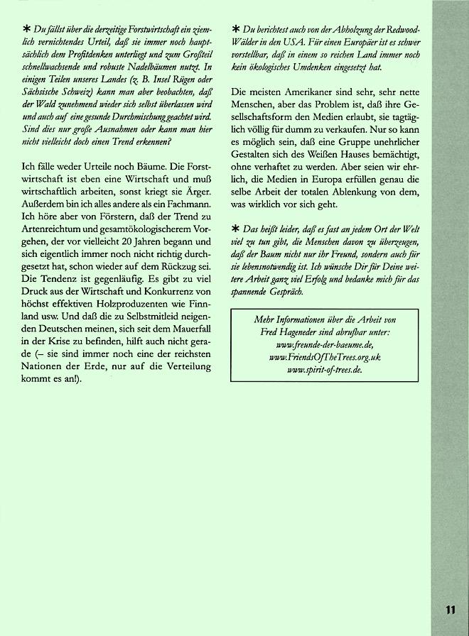 Hageneder-Interviewseite Scan 7 von 7