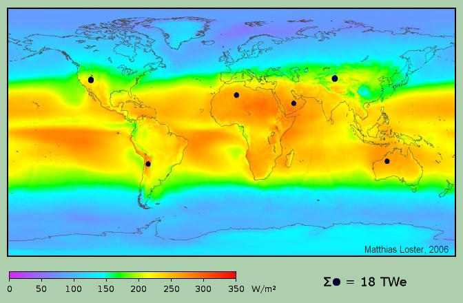 solar land area. © Wikimedia Commons