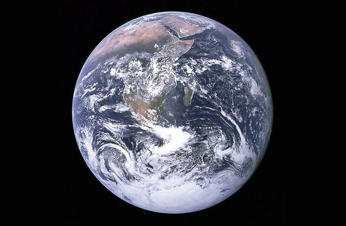 the 'Blue Marble': Earth seen from Apollo 17. © NASA